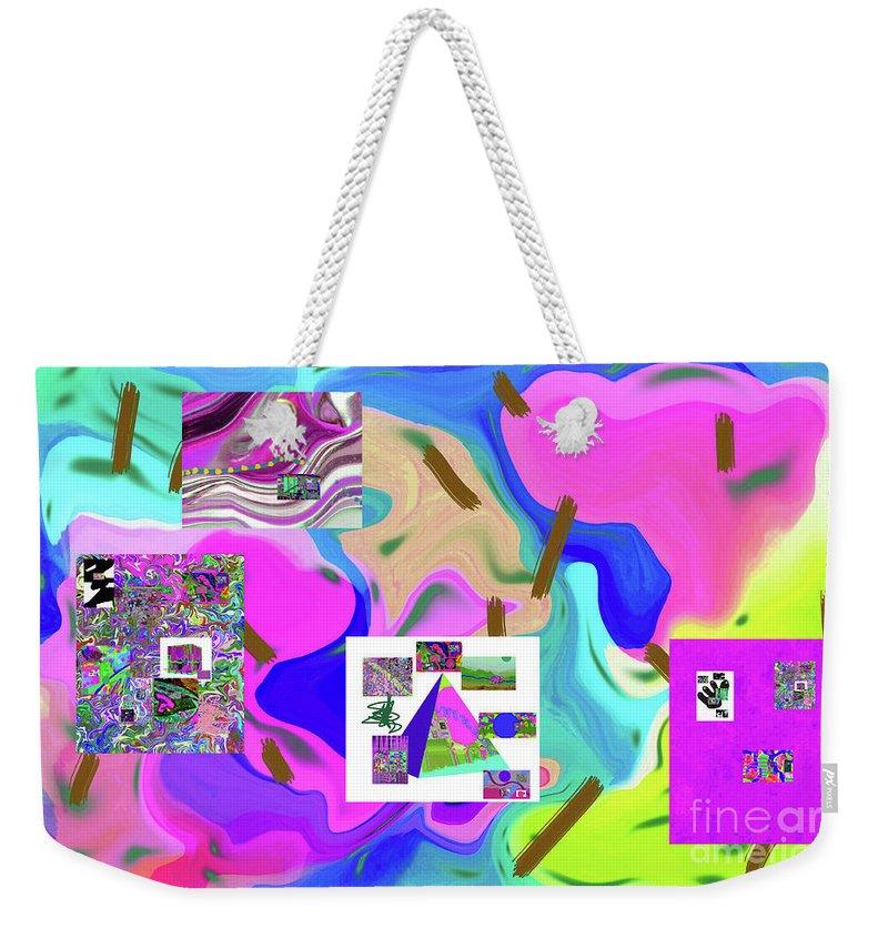 Walter Paul Bebirian Weekender Tote Bag featuring the digital art 6-19-2015dabcdefghijklmnopqrtuvwxyzabcdefghijklm by Walter Paul Bebirian
