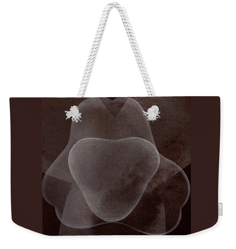Abstract Weekender Tote Bag featuring the painting Abstract flower by Jitka Anlaufova