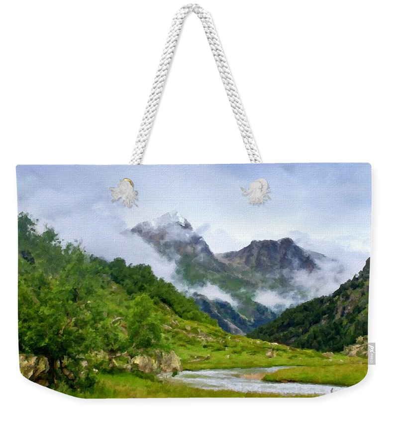 W Weekender Tote Bag featuring the digital art Art Landscape by Usa Map