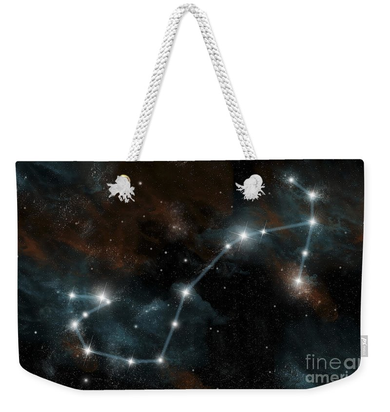 Antares Weekender Tote Bag featuring the digital art Artists Depiction Of The Constellation by Marc Ward