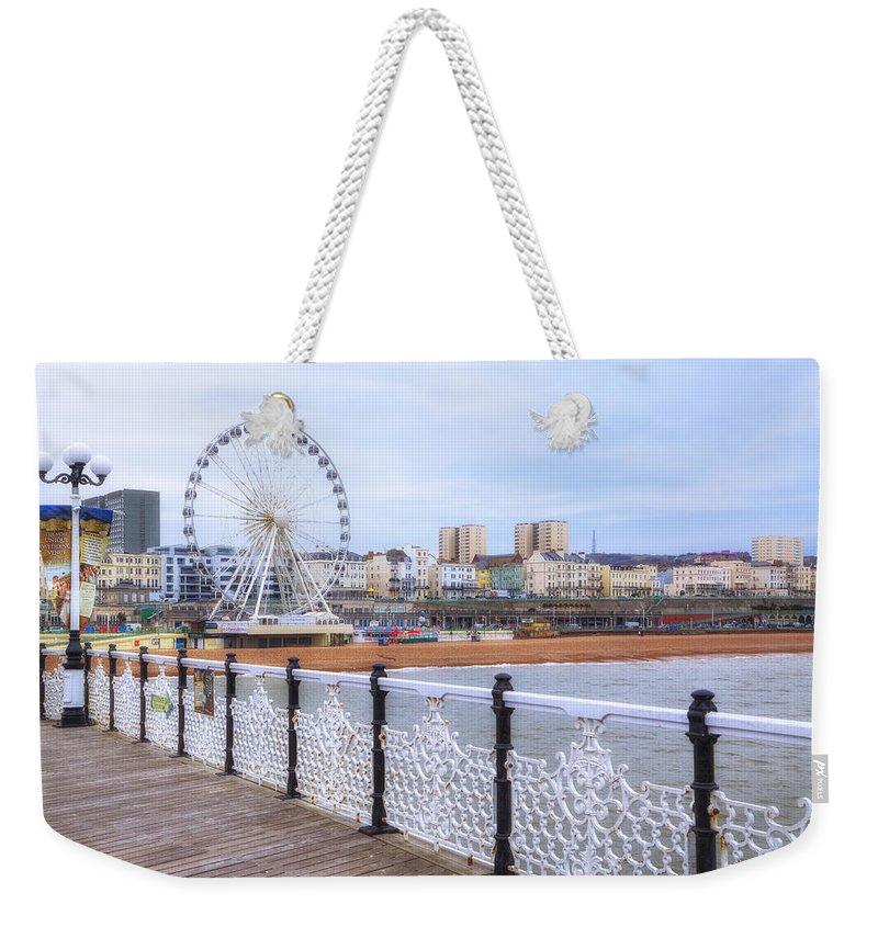 Brighton Pier Weekender Tote Bag featuring the photograph Brighton Pier by Joana Kruse