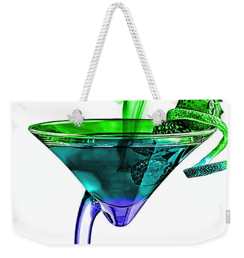 Cocktails Weekender Tote Bag featuring the mixed media Cocktails Collection by Marvin Blaine