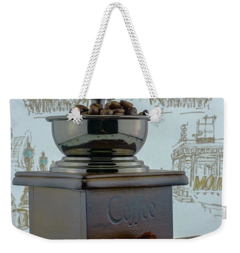Bean Weekender Tote Bag featuring the photograph Daily Grind Coffee by F Helm