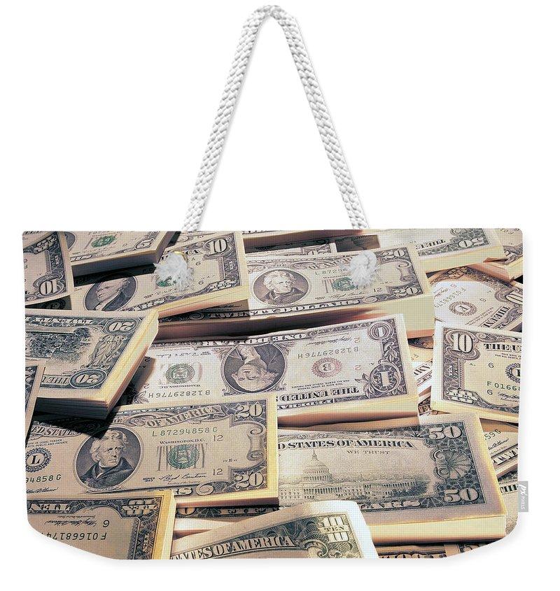 Dollar Weekender Tote Bag featuring the digital art Dollar by Mery Moon
