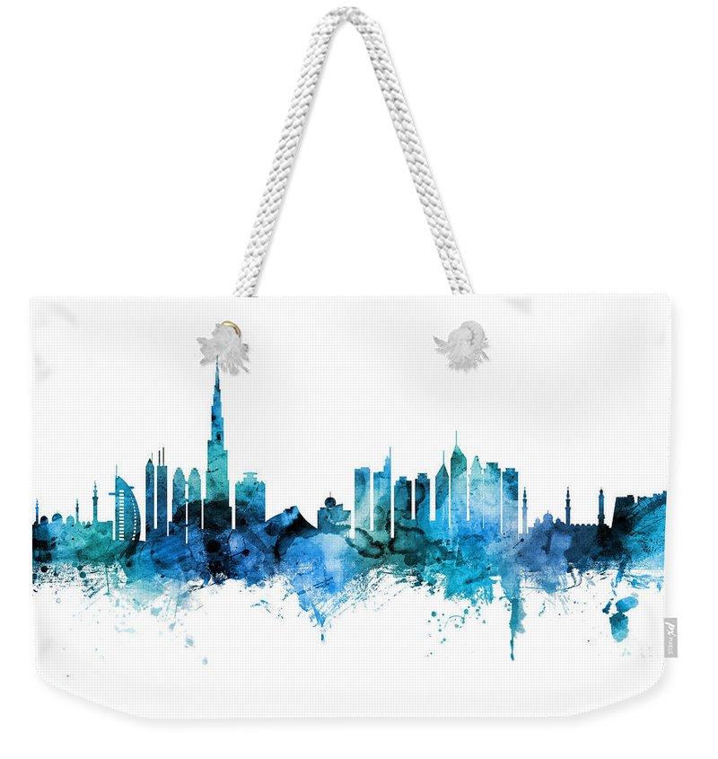 Dubai Skyline Weekender Tote Bags
