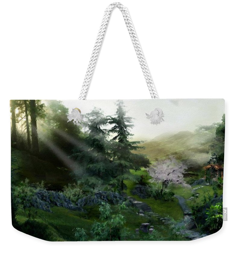 J Weekender Tote Bag featuring the digital art Landscape Art Prints by Usa Map
