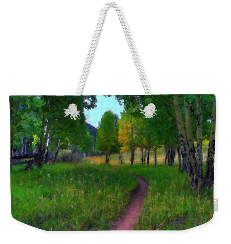 V Weekender Tote Bag featuring the digital art Landscape Wall by Usa Map