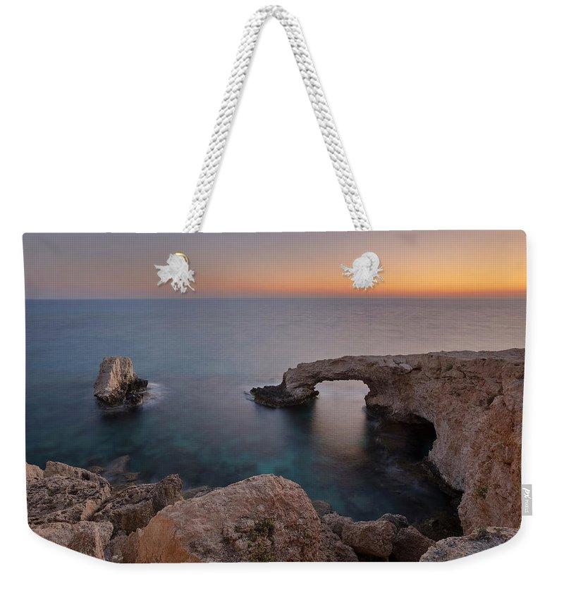 Love Bridge Weekender Tote Bag featuring the photograph Love Bridge - Cyprus by Joana Kruse