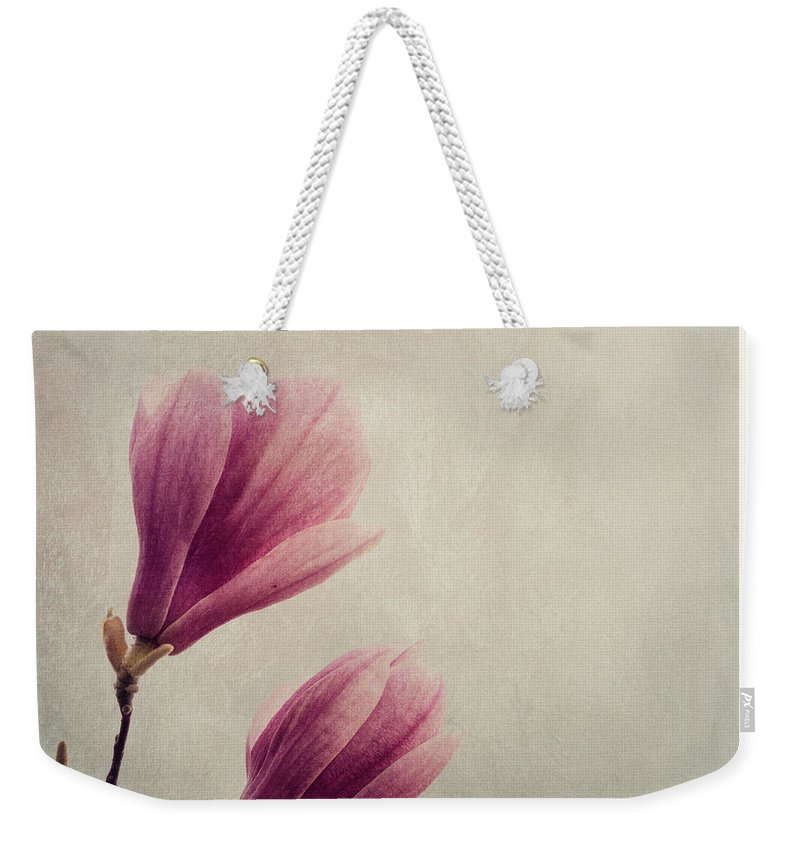 Magnolia Weekender Tote Bag featuring the photograph Magnolia Flower by Jelena Jovanovic