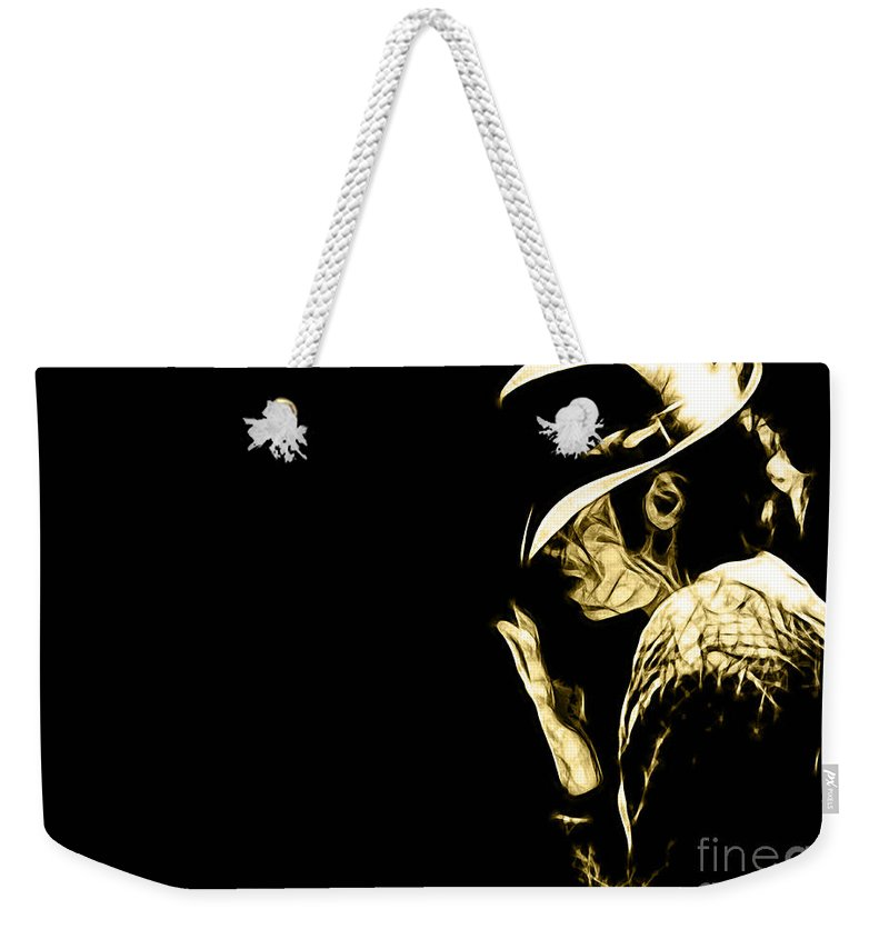 Michael Jackson Art Weekender Tote Bag featuring the mixed media Michael Jackson Collection by Marvin Blaine