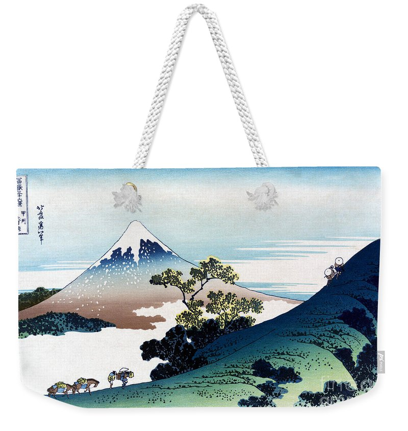 19th Century Weekender Tote Bag featuring the painting Mount Fuji by Granger