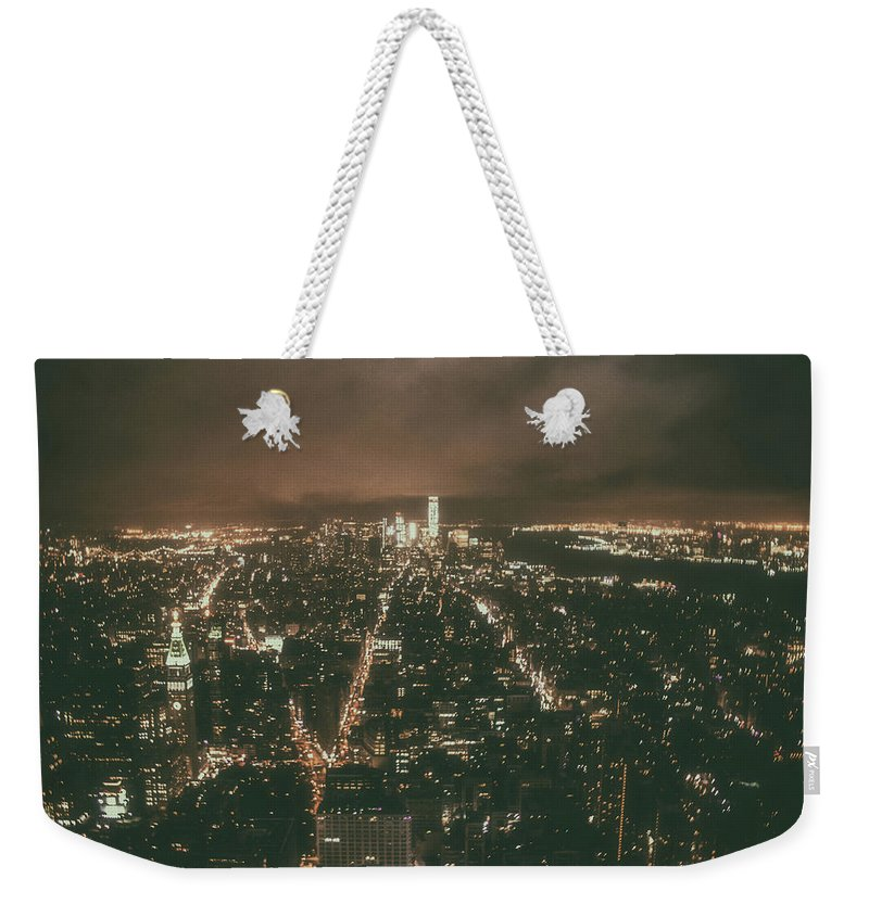 City Weekender Tote Bag featuring the photograph New York Skyline by Martin Newman