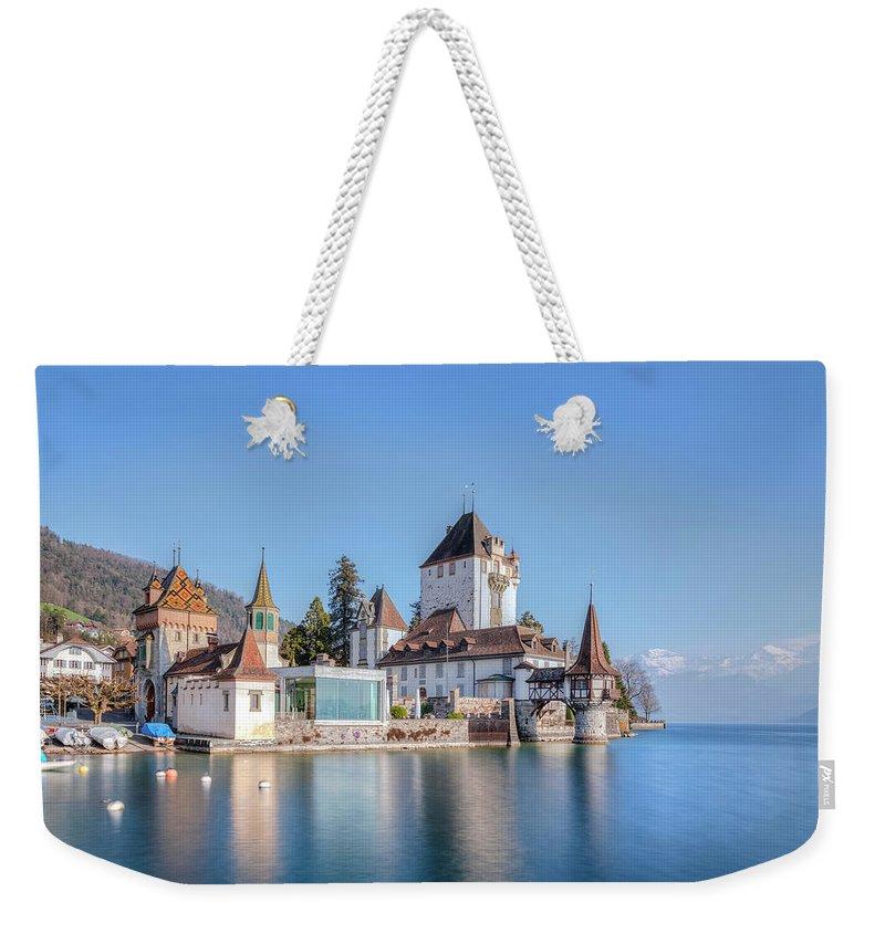 Schloss Oberhofen Weekender Tote Bag featuring the photograph Oberhofen - Switzerland by Joana Kruse