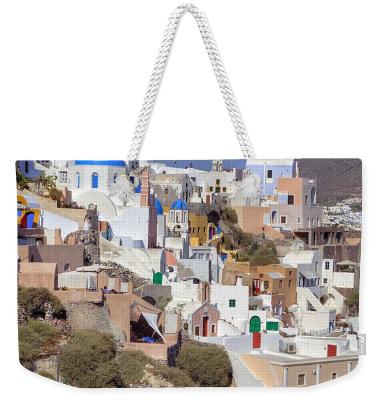 Oia Weekender Tote Bag featuring the photograph Oia - Santorini by Joana Kruse