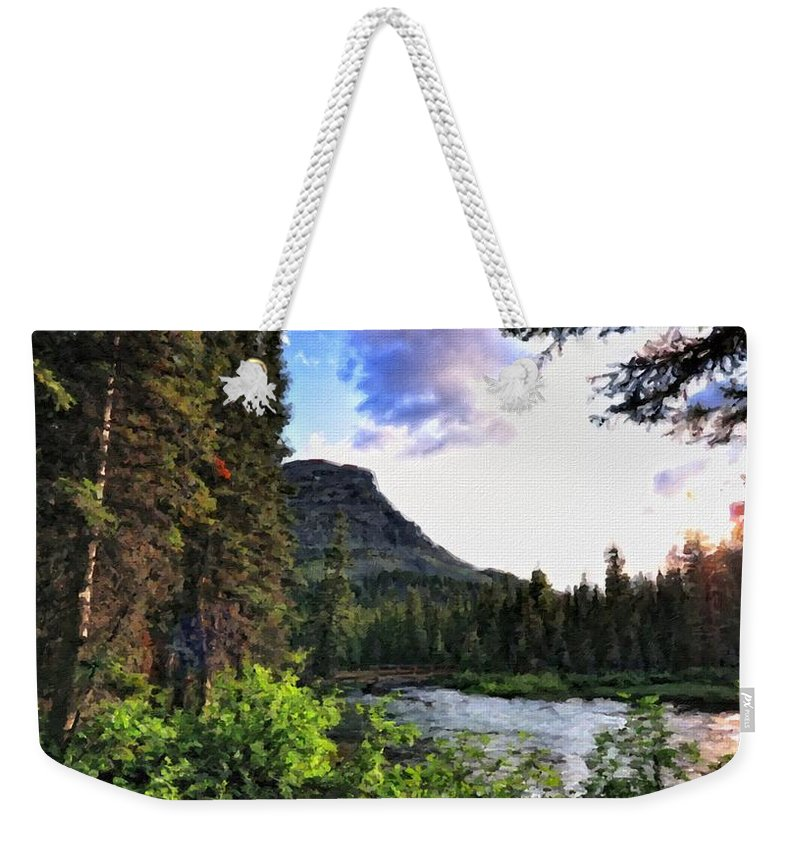 Nature Weekender Tote Bag featuring the digital art P G Landscape by Usa Map