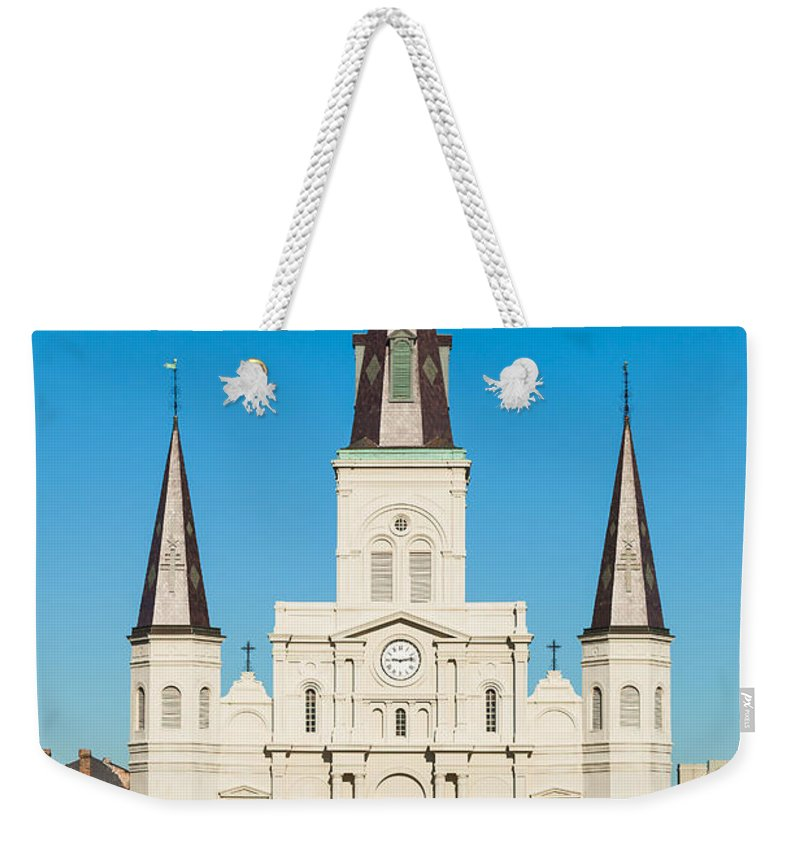 Architecture Weekender Tote Bag featuring the photograph Saint Louis Cathedral by Raul Rodriguez