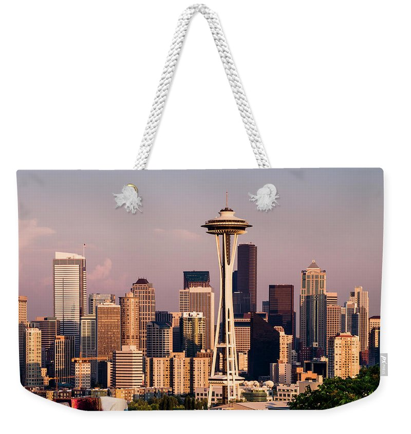 Architecture Weekender Tote Bag featuring the photograph Seattle by Radek Hofman