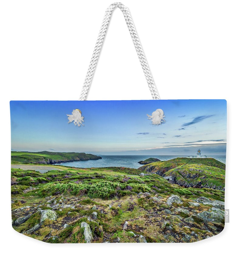 Pembrokeshire Weekender Tote Bag featuring the photograph Strumble Head Lighthouse by Mark Llewellyn