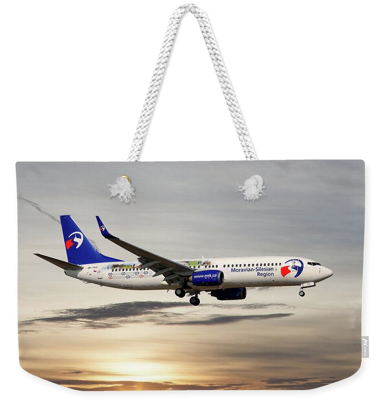 Travel Service Weekender Tote Bag featuring the photograph Travel Service Boeing 737-8cx by Smart Aviation