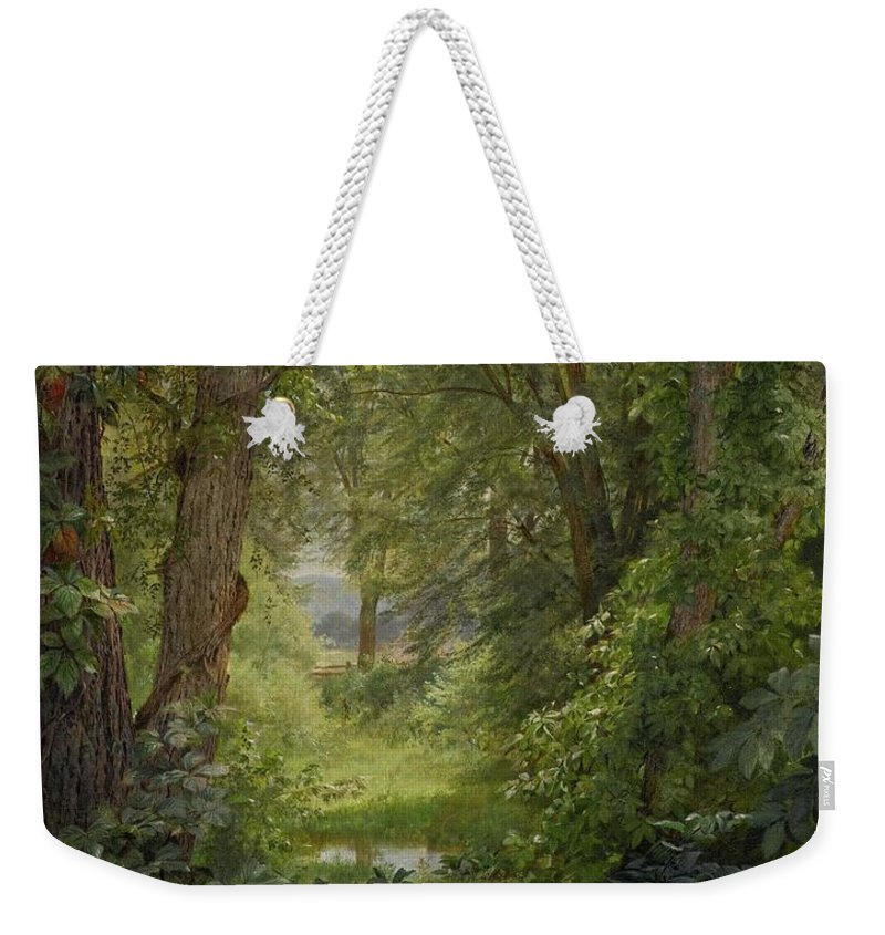 Tumblr_nv8mijq6ul1uvd0n3o1_1280 Weekender Tote Bag featuring the painting Tumblr by MotionAge Designs