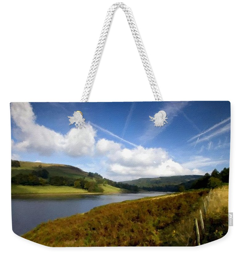 In Weekender Tote Bag featuring the digital art V F Landscape by Usa Map