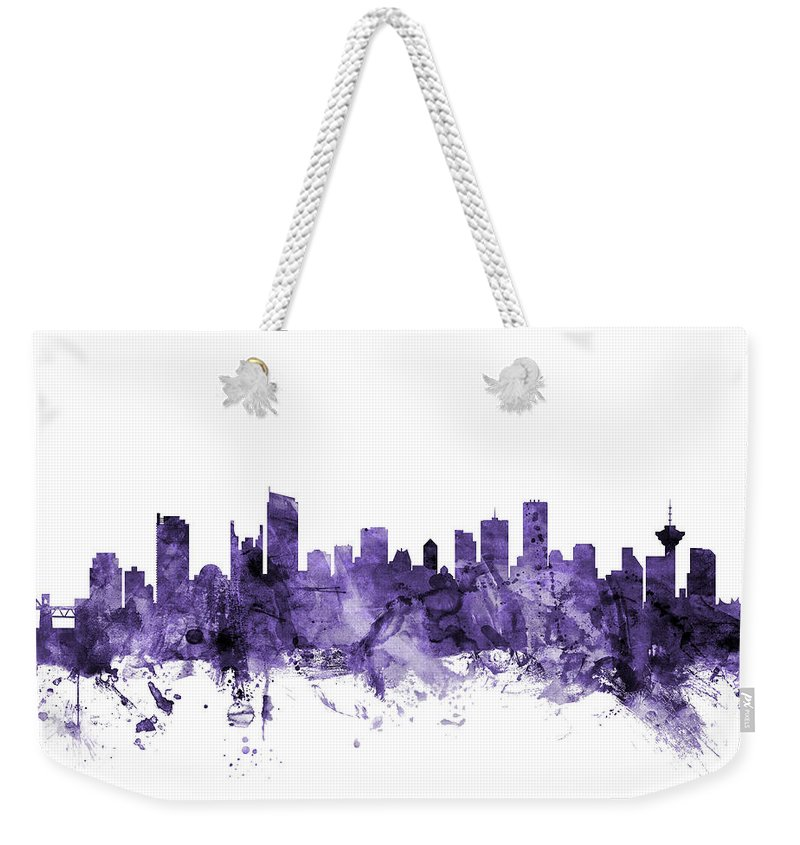 Vancouver Skyline Weekender Tote Bags