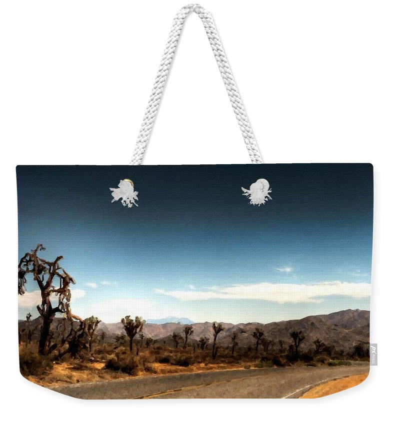 Original Weekender Tote Bag featuring the digital art G H Landscape by Usa Map