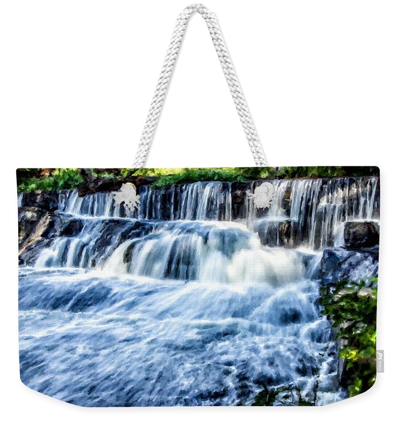 A Weekender Tote Bag featuring the digital art Landscape N More by Usa Map