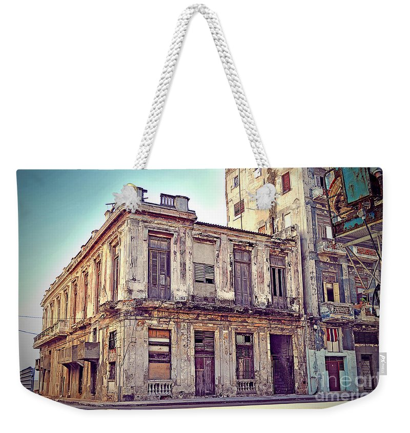 Havana Weekender Tote Bag featuring the photograph Havana, Cuba by Chris Andruskiewicz