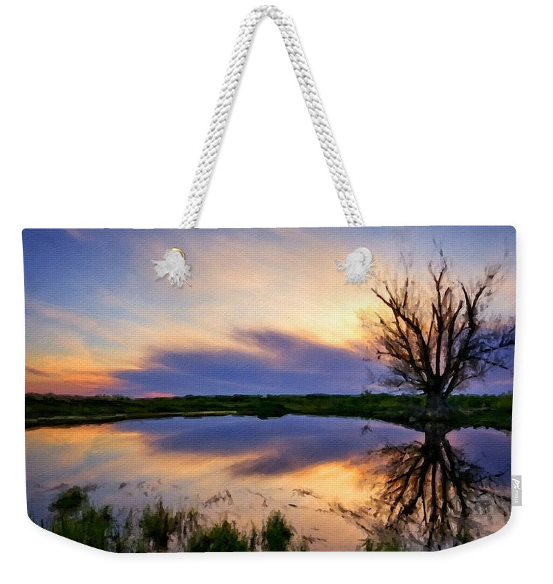 Landscape Weekender Tote Bag featuring the digital art Landscape N More by Usa Map
