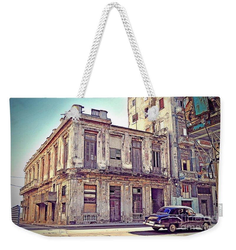 Havana Weekender Tote Bag featuring the photograph Havana, Cuba by Chris Andruskiewicz