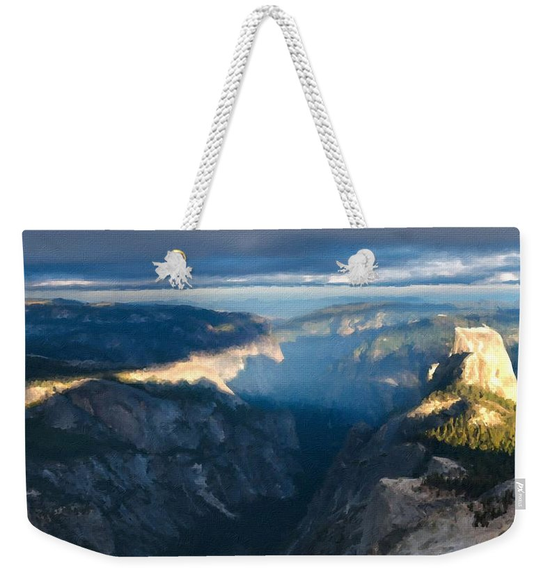 Landscape Weekender Tote Bag featuring the digital art R F Landscape by Usa Map