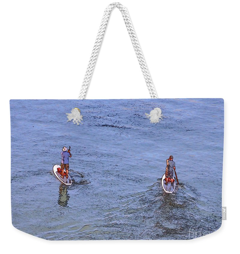 Paddle Boarders Weekender Tote Bag featuring the photograph 69- Paddle Boarders by Joseph Keane