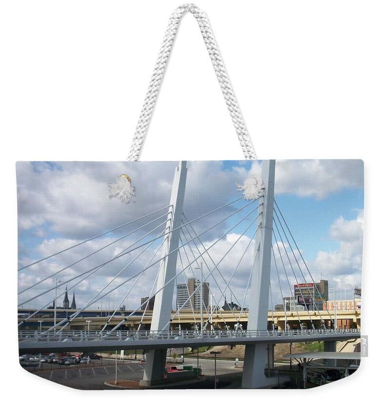 Bridge Weekender Tote Bag featuring the photograph 6th Street Bridge by Anita Burgermeister