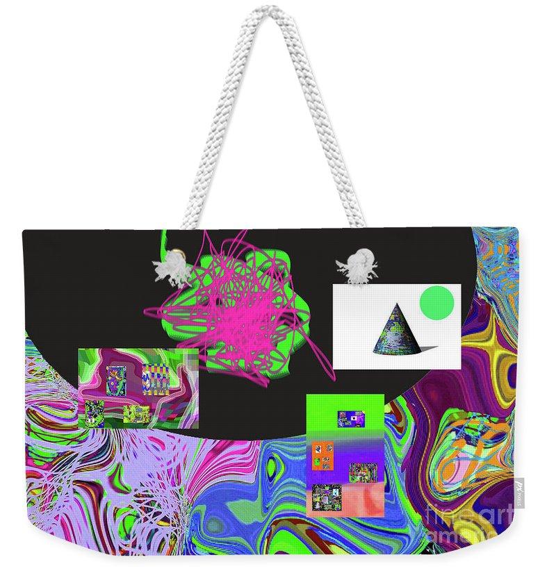 Walter Paul Bebirian Weekender Tote Bag featuring the digital art 7-20-2015gabcdefghijklmnopqrtuvw by Walter Paul Bebirian