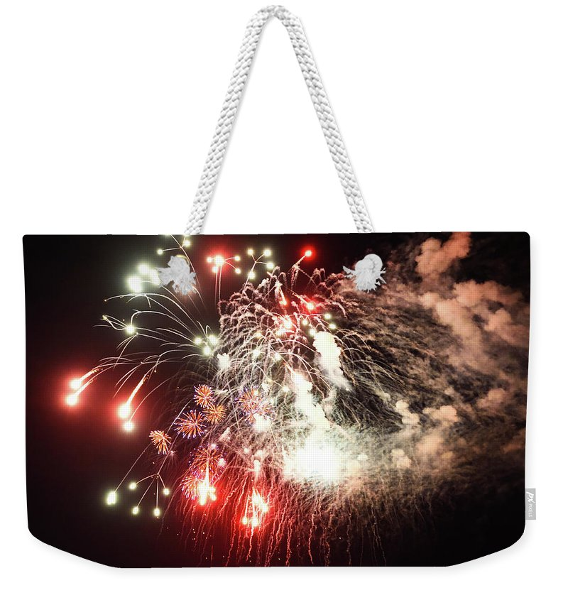 Don't Drop The Crystal Ball Weekender Tote Bag featuring the photograph 7-4-17--0464 Don't Drop The Crystal Ball by Vicki Hall