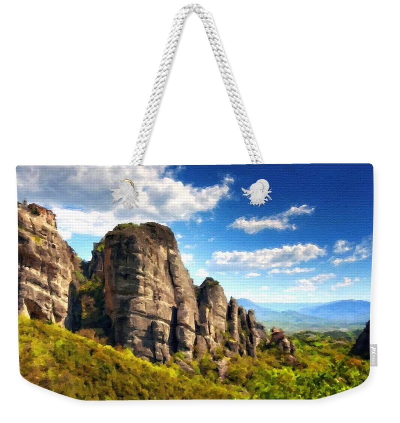 P Weekender Tote Bag featuring the digital art 9 Landscape by Usa Map