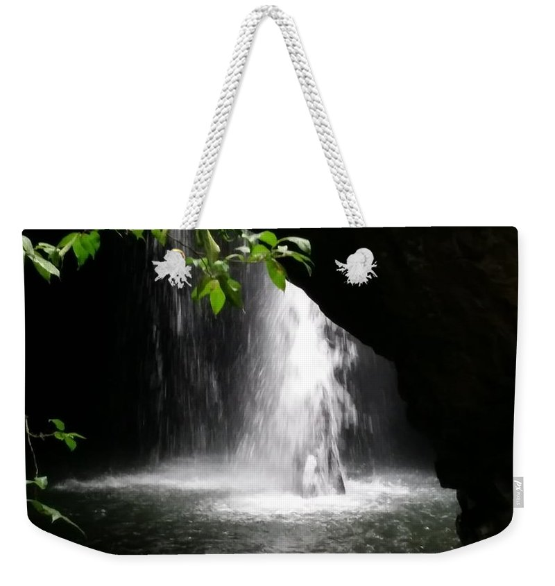 Australia Weekender Tote Bag featuring the photograph Australia - Peering Into Natural Arch Waterfall by Jeffrey Shaw