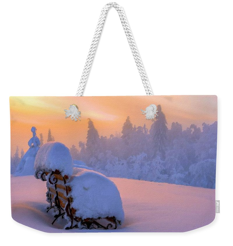 Nature Weekender Tote Bag featuring the digital art Az Landscape by Usa Map