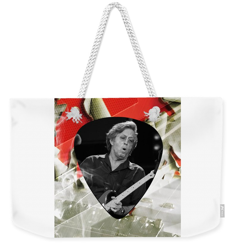 Eric Clapton Weekender Tote Bag featuring the mixed media Eric Clapton Art by Marvin Blaine