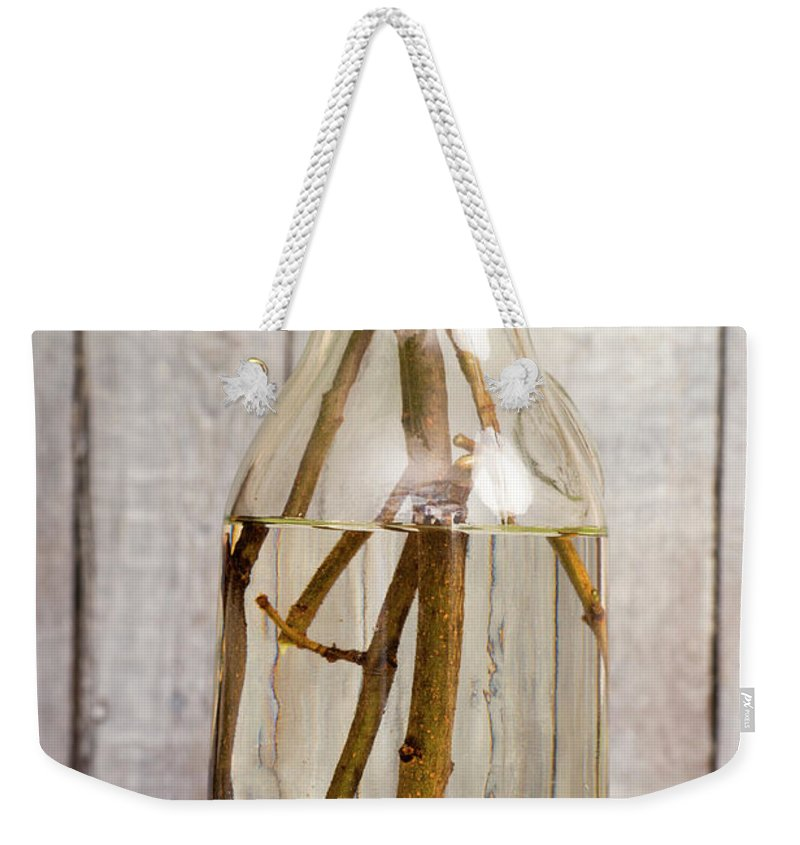 Flowers Weekender Tote Bag featuring the photograph Flowers - Freshly Cut Lilacs by Donald Erickson