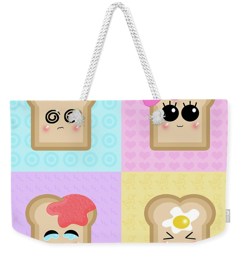 Funny Weekender Tote Bag featuring the digital art Funny by Mery Moon
