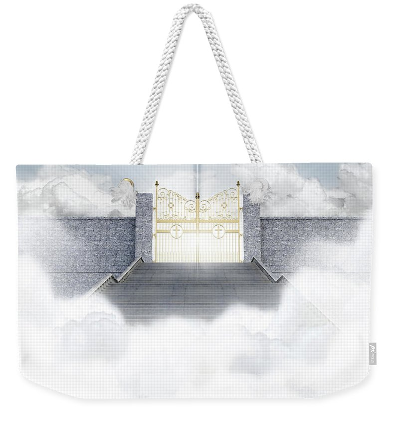 Heaven Weekender Tote Bag featuring the digital art Heavens Gates by Allan Swart