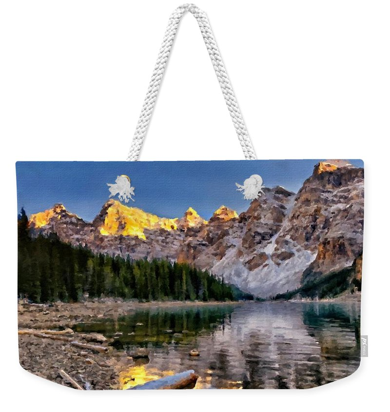 Landscape Weekender Tote Bag featuring the digital art Landscape In Painting by Usa Map