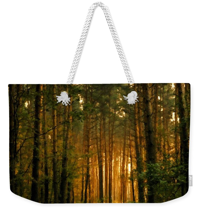 E-landscape Weekender Tote Bag featuring the digital art Nature In by Usa Map