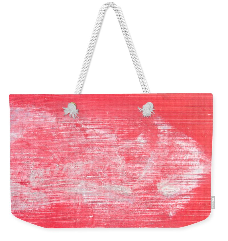 Abandoned Weekender Tote Bag featuring the photograph Red Wood by Tom Gowanlock