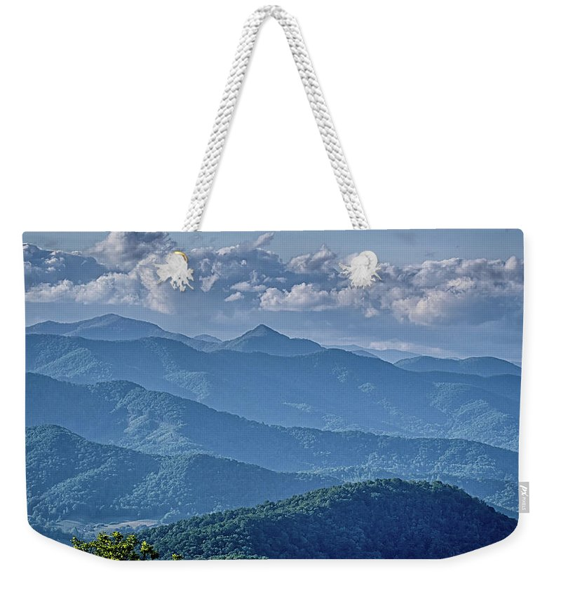 Mountains Weekender Tote Bag featuring the photograph Springtime In The Blue Ridge Mountains by Alex Grichenko