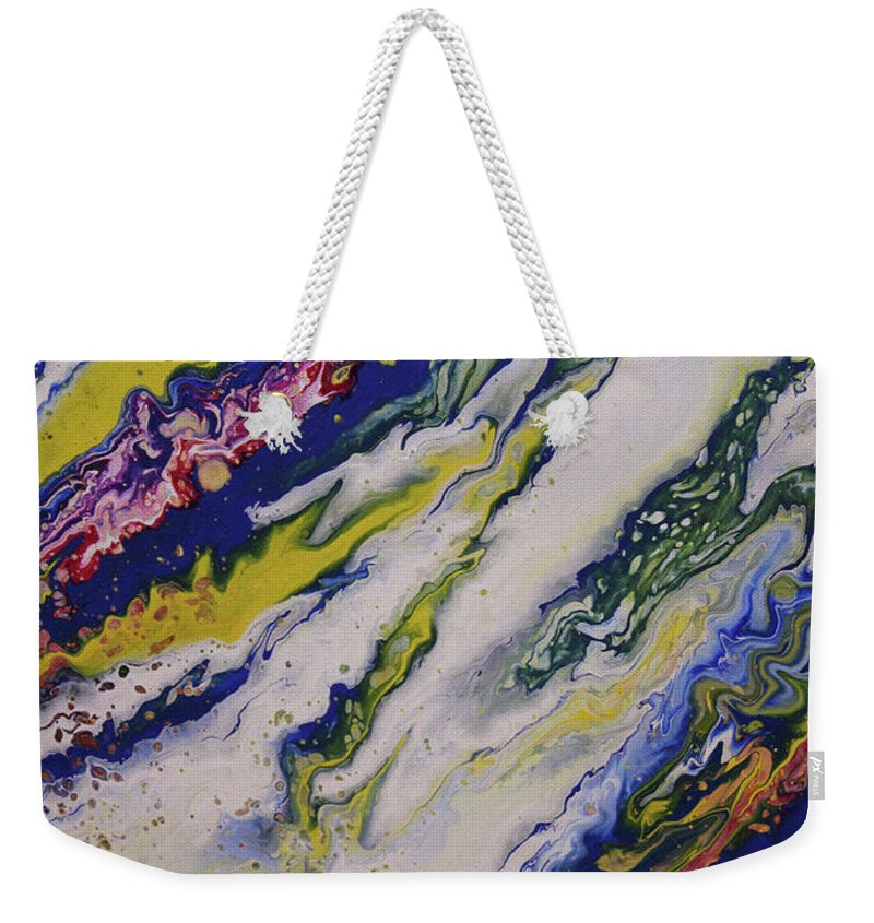 Weekender Tote Bag featuring the painting Untitled by Joe Fomby