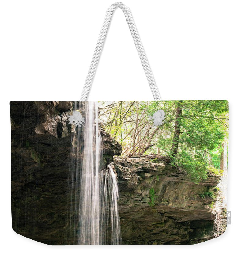 Waterfall Weekender Tote Bag featuring the photograph Waterfall by Wesley Farnsworth