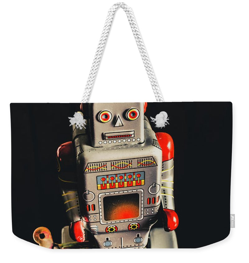 Still Life Weekender Tote Bag featuring the photograph 70s Mechanical Android Bot by Jorgo Photography - Wall Art Gallery